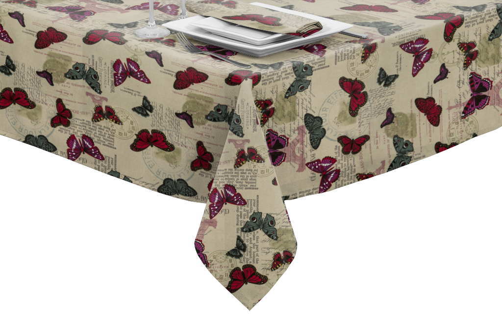 Our Butterfly Tablecloth 100 Cotton With A Superior